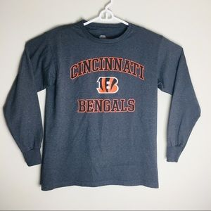 Tops - Cincinnati Bengals Grey Long Sleeve T- Shirt